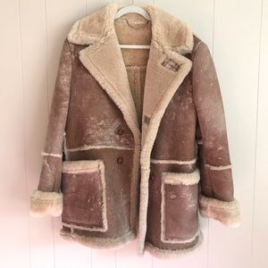 VTG 70s Rancher Western Shearling Sheepskin Coat